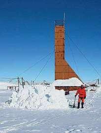 Вышка буровой установки на станции «Восток» (журнал «Природа»)