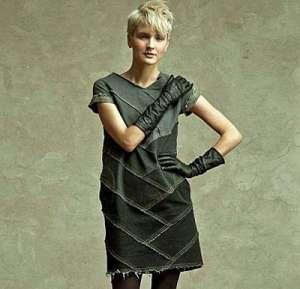 Платье из обрезков джинсовой ткани (reetaus.com).