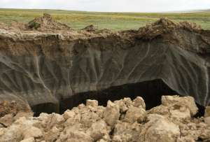 Воронка на Ямале. Фото: Пресс-служба губернатора ЯНАО