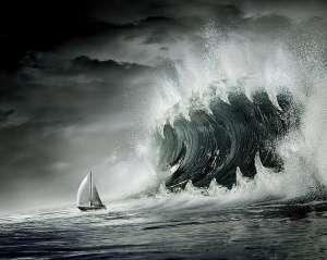 Волна-убийца появляется ниоткуда. Фото: Дейта.RU